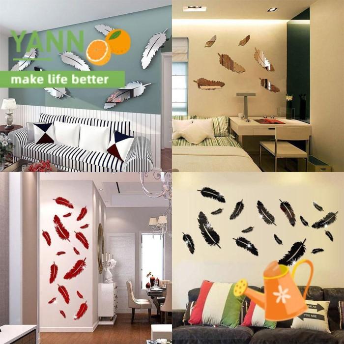 Jual Yann 8pcs Set New Removable Art Vivid Living Room Mirror Wall Jakarta Timur Olria Tokopedia