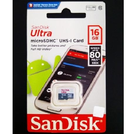 Foto Produk Sandisk Micro SD 16GB CLASS 10 Non Adapter MicroSD Memory Card 16 GB dari Porto Grosir