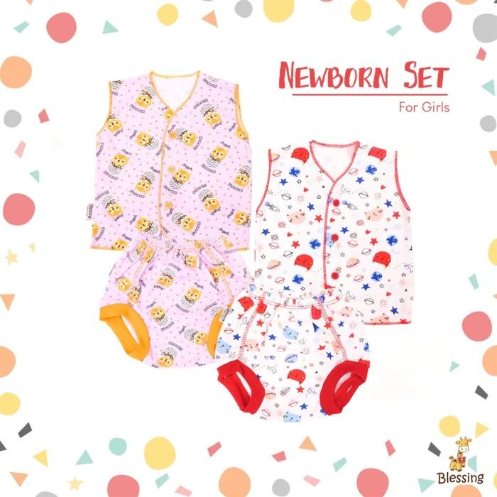 Foto Produk Blessing Babywears-set baju bayi tangan kutung dan celana POP-NB-G dari BLESSING Babywear