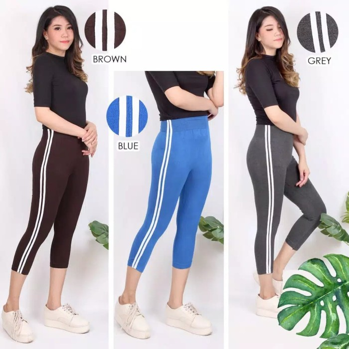 Jual Celana Legging Ketat Wanita Midi Crop Selutut Olahraga Senam Lari Jakarta Barat Boutique Preloved Tokopedia