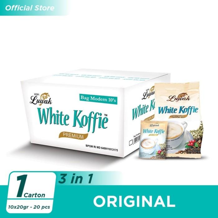 Foto Produk Luwak White Koffie Original 10x20gr - 20 pcs [Carton] dari Kopi Luwak Official