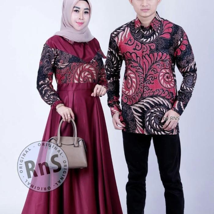Jual Couple Gamis Batik Model Terbaru Baju Gamis Muslim Wanita Terlaris Maron Kota Pekalongan Fn Olshop88 Tokopedia