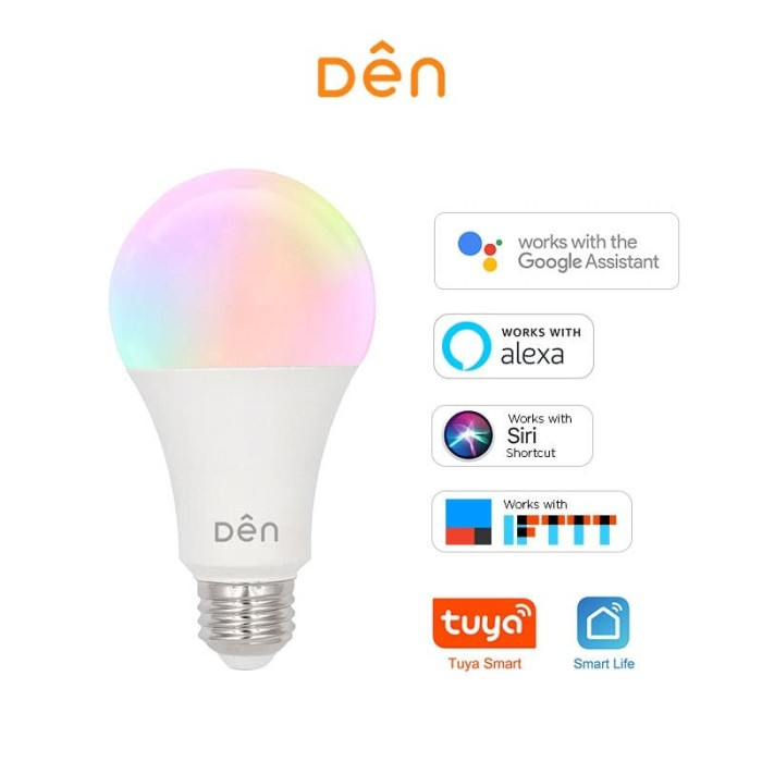 Foto Produk DEN Smart Home WiFi LED Bulb 12W - Bohlam LED (RGB+CCT) dari Den Smart Home