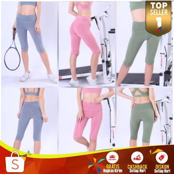 Jual Celana Legging Wanita Olahraga 3 4 Lengging Sport Import Cewek Seksi Jakarta Barat Ai Rubber Tokopedia