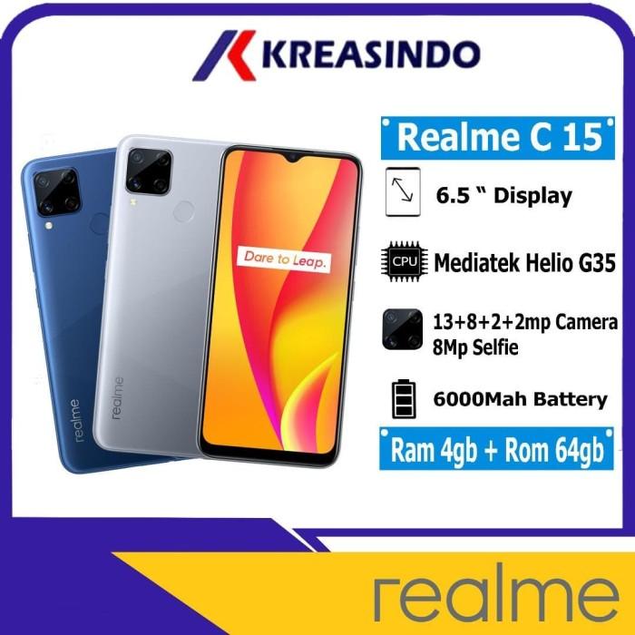 Foto Produk Realme C15 4/64 Ram 4gb Internal 64gb Garansi Resmi - Biru dari Kreasindo Online