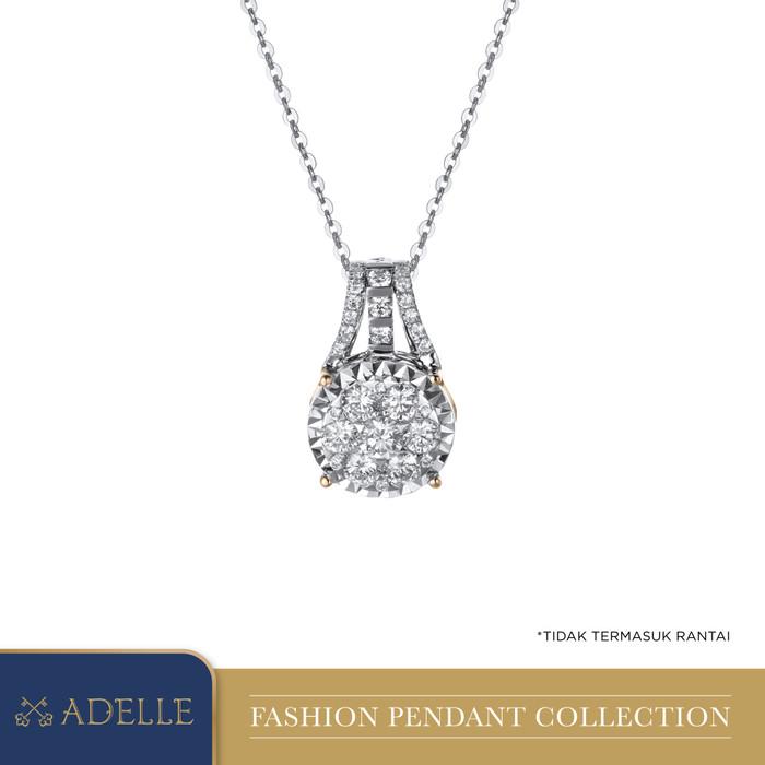 Foto Produk Diamond Pendant - Liontin Berlian Adelle Jewellery - PS1710041_EPR - Twotone dari Adelle Jewellery