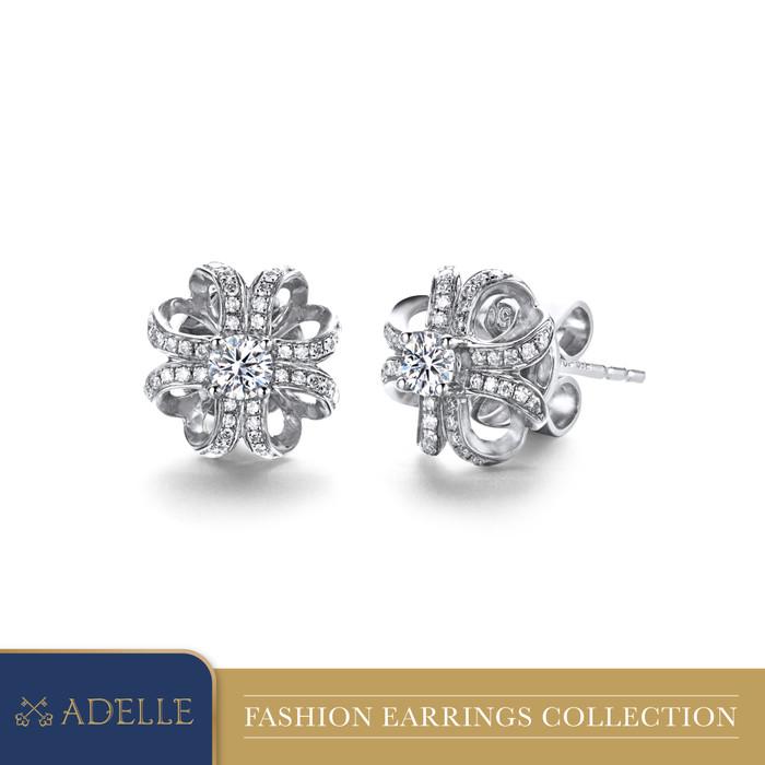 Foto Produk Anting Berlian - Adelle Jewellery - PE0134-7 - White Gold dari Adelle Jewellery