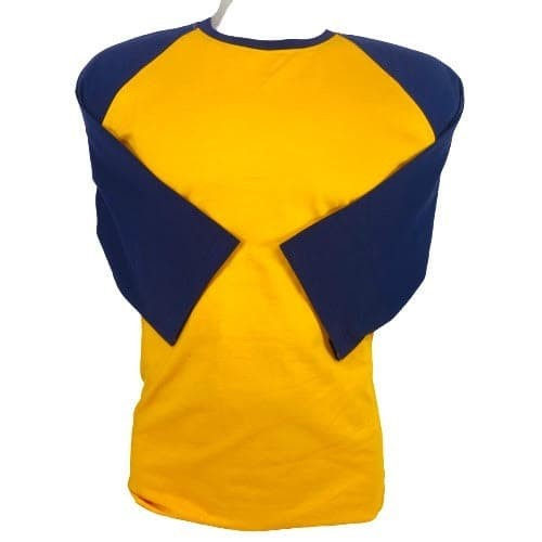 Foto Produk Kaos polos reglan kuning-donker lengan 3/4 uk m L xl xxl dewasa - M dari kaos reglan polos