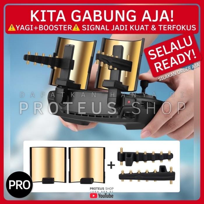 Foto Produk ✅ SIGNAL BOOSTER PENGUAT SINYAL YAGI DRONE DJI Mavic Mini SPARK PRO dari Proteus Shop