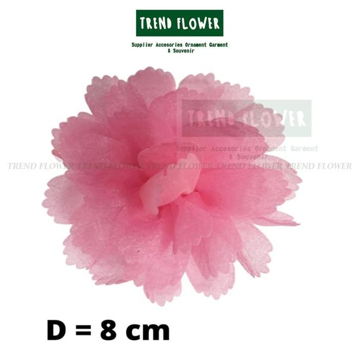 Foto Produk bunga kain anyelir diameter 8cm - Biru dari Trend Flower