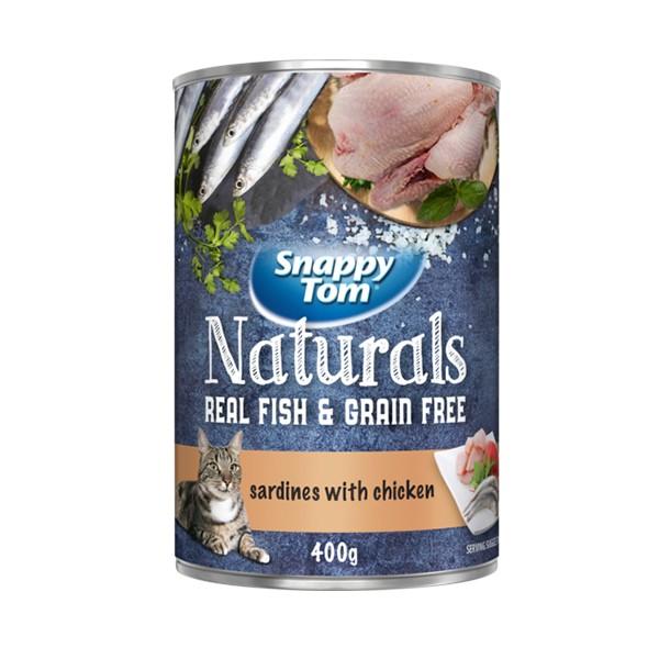 Foto Produk snappy tom 400 gr cat sardines with chicken dari F.J. Pet Shop