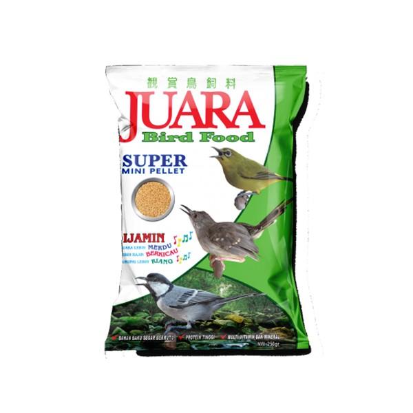 Foto Produk juara bird food 250 gr super mini pellet dari F.J. Pet Shop