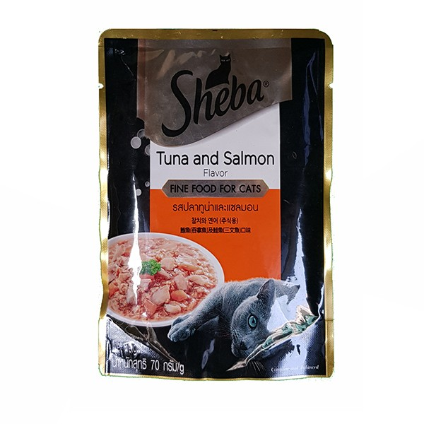 Foto Produk sheba 70 gr cat tuna and salmon (pouch) dari F.J. Pet Shop