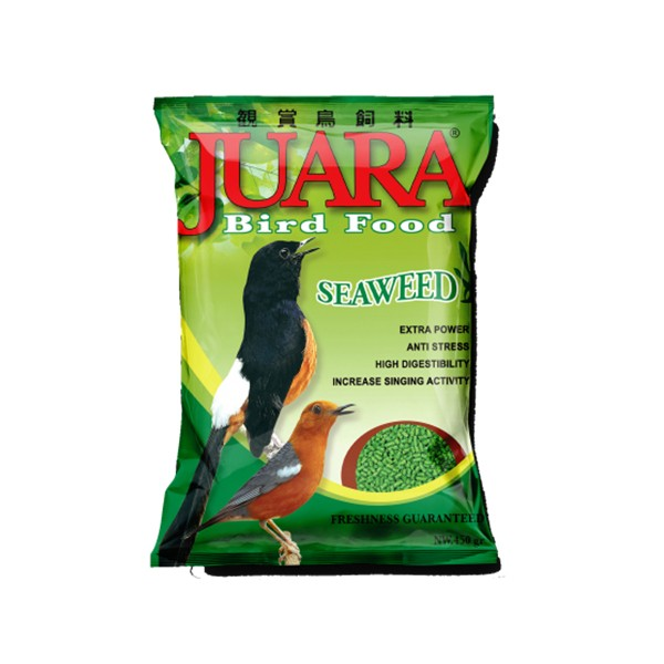 Foto Produk juara bird food 450 gr seaweed dari F.J. Pet Shop