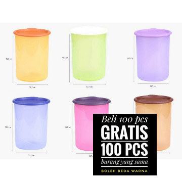 Foto Produk Toples Anti Pecah / Slim Small Handy Jar Tulipware dari TULIPWARE collection