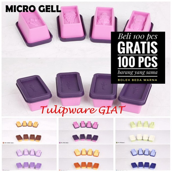 Foto Produk Micro Gell Tulipware Isi 4 / Tempat Agar dari TULIPWARE collection