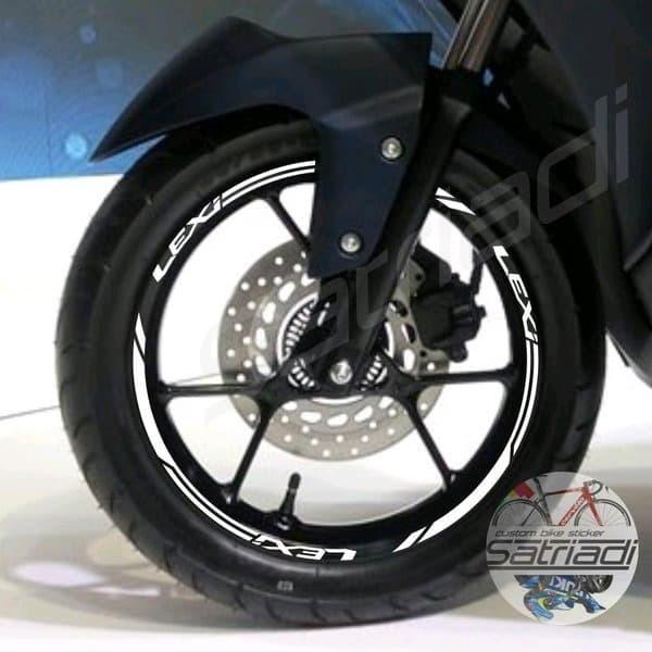 Foto Produk Stiker Velg Sticker Motor Decal Yamaha Lexi putih ring 14 Velk 2018 dari RACING PART 2