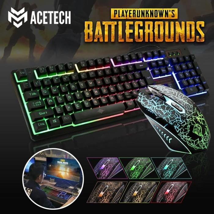 Foto Produk Acetech Keyboard Mouse Warfaction Backlight K13 Combo Gaming - Hitam dari Techwave