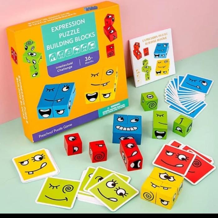 Foto Produk Mainan edujasi anak puzzle ekpresi/building puzzle expression dari AUTO KID II