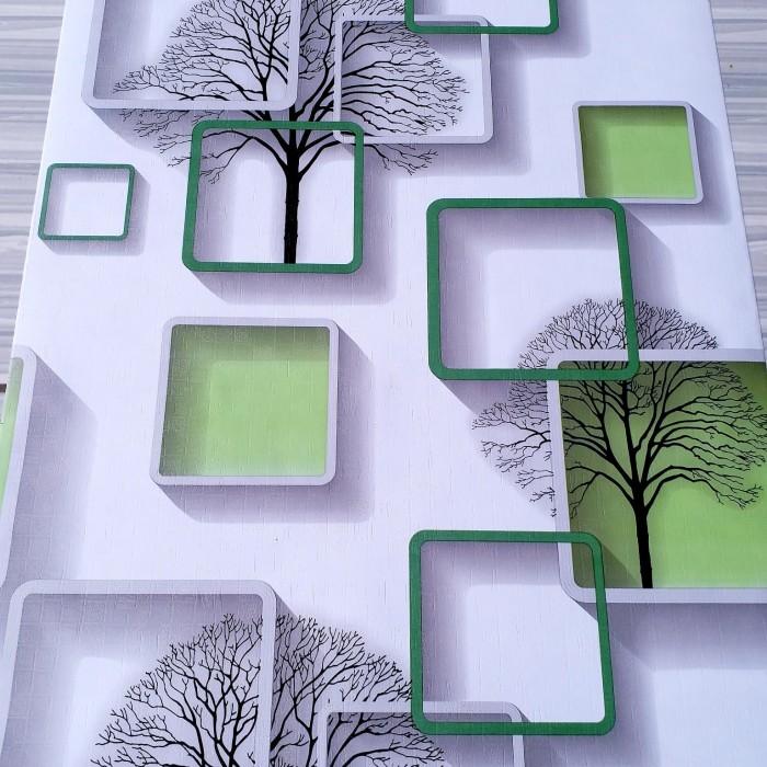 Foto Produk wallpaper dinding sticker -kotak 3d hijau 45 cm x 10 m dari jay acc