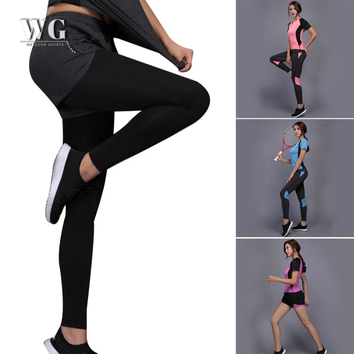 Jual Wg Wg Celana Legging Panjang Wanita Untuk Yoga Fitness Gym Kota Surabaya Sumber Kencono2 Tokopedia