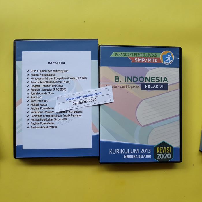 Jual Rpp Bahasa Indonesia Kelas 7 Revisi 2020 Smp K13 Format Satu Lembar Kab Bogor Rpp Silabus Com Tokopedia