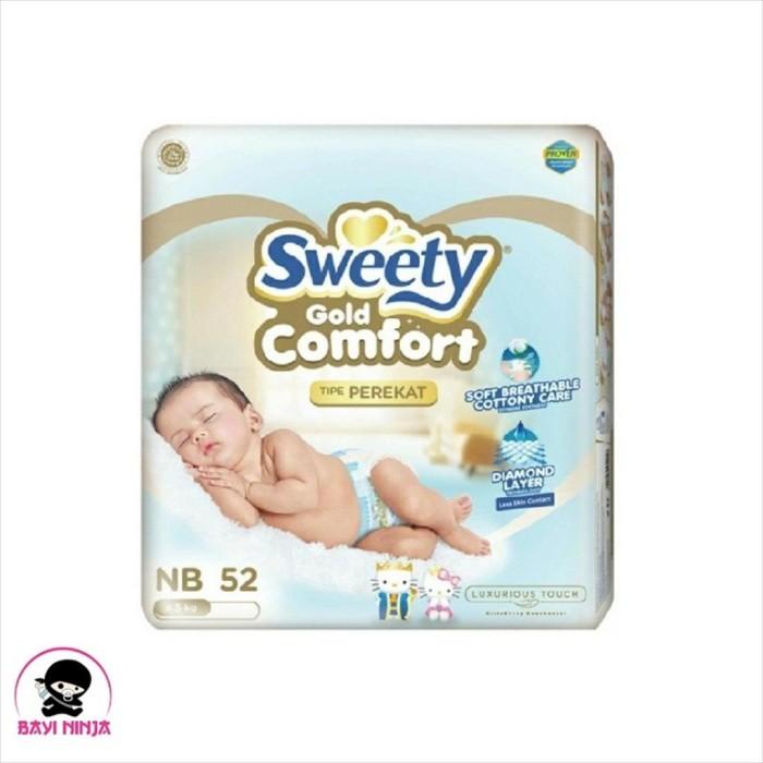 Foto Produk SWEETY Comfort Gold Popok Perekat NewBorn NB52 / NB 52 dari BAYININJA