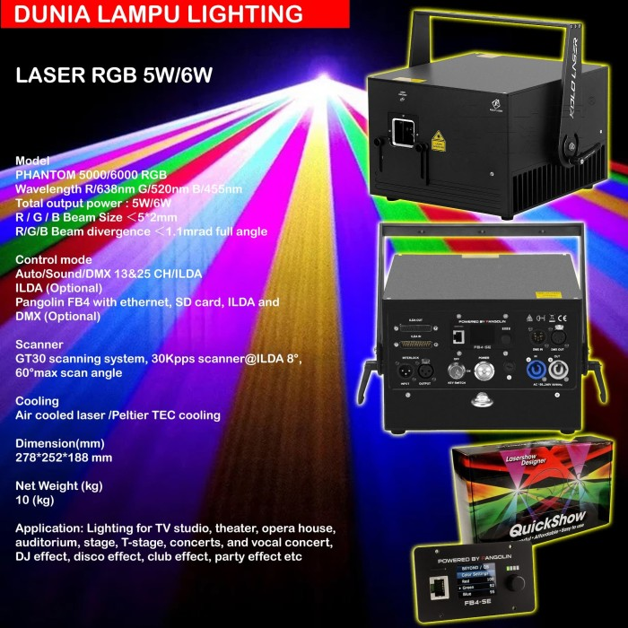 Foto Produk LASER RGB 6 WATT + PANGOLIN FB4 QUICKSHOW + HARDCASE dari DUNIA LAMPU LIGHTING