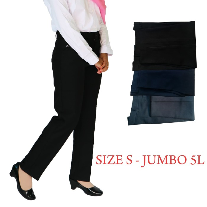 Foto Produk Celana Bahan Kerja Wanita Grade B dari Bunda Wulan Shop