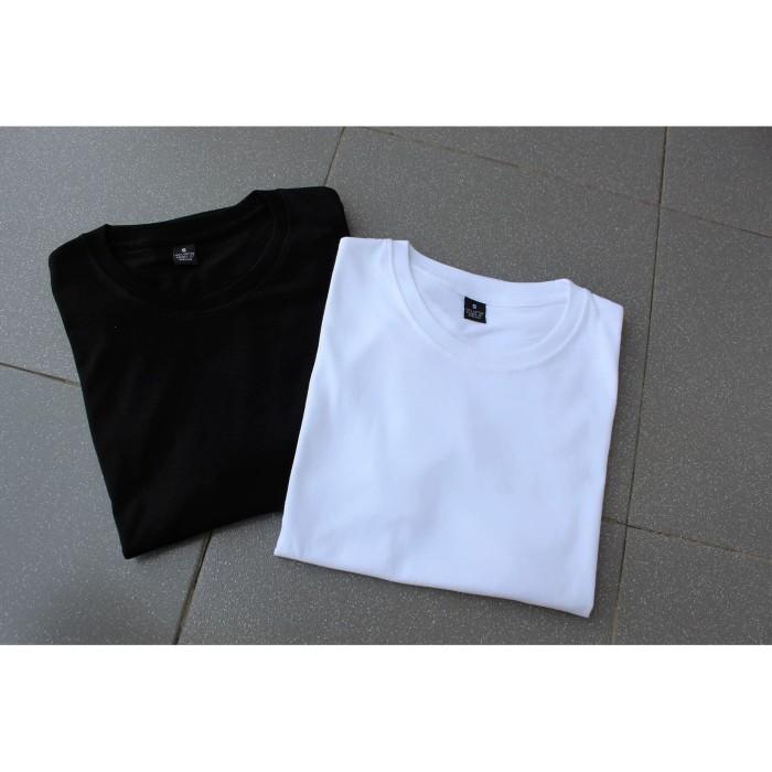 Jual Kaos Polos Depan Belakang Katun Combed 30s Reaktif Tekstur Premium Hitam L Kota Tangerang Custom Baju Tokopedia