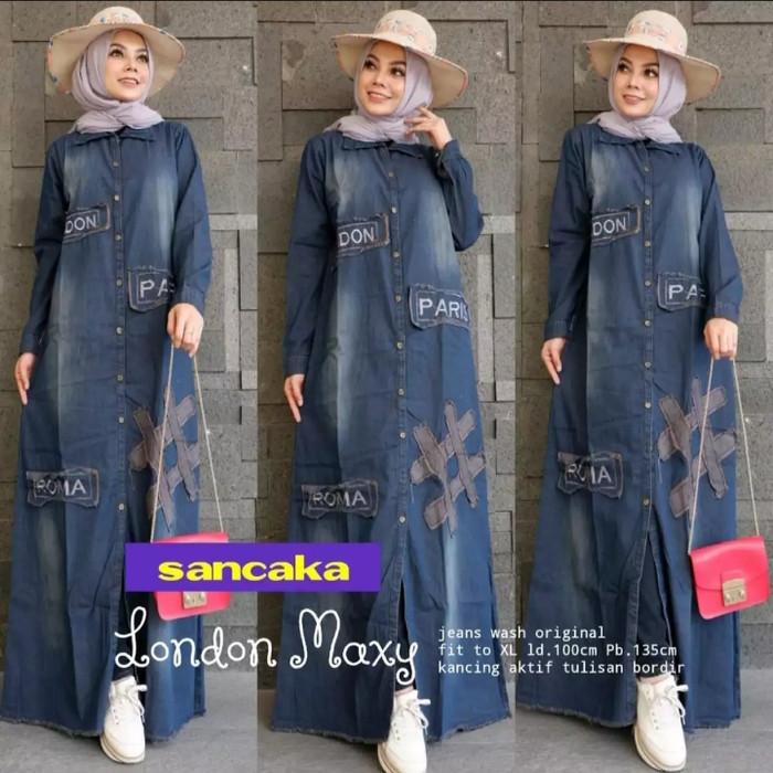 Jual Gamis Jeans Baju Muslim Drees Wanita Model Terbaru London Xl Kab Bandung Twins Colections1 Tokopedia