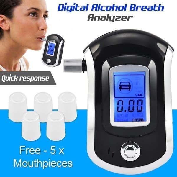 Foto Produk Alcohol Tester Breath Analyzer Ukur Kadar Alkohol Tester Meter AT6000 dari HRDIK