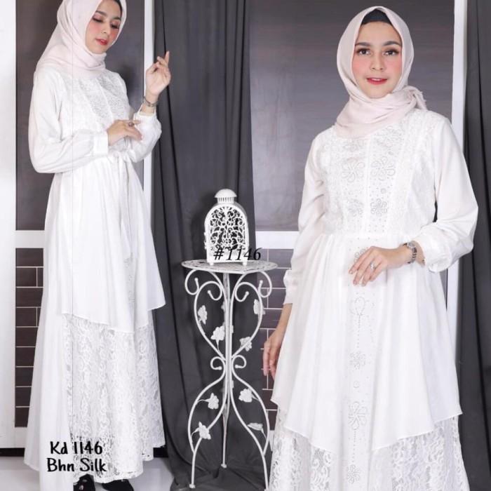 Jual Gamis Adelina Baju Muslim Wanita Baju Umroh Baju Pesta Putih M Jakarta Pusat Kei Fashion Accessories Tokopedia