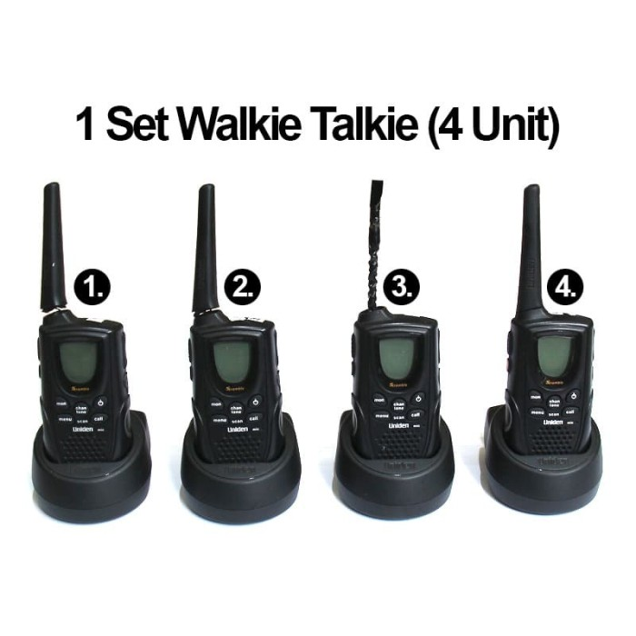 Foto Produk WT Walkie Talkie 1 Set 4 Unit - UNIDEN dari EtalaseBelanja