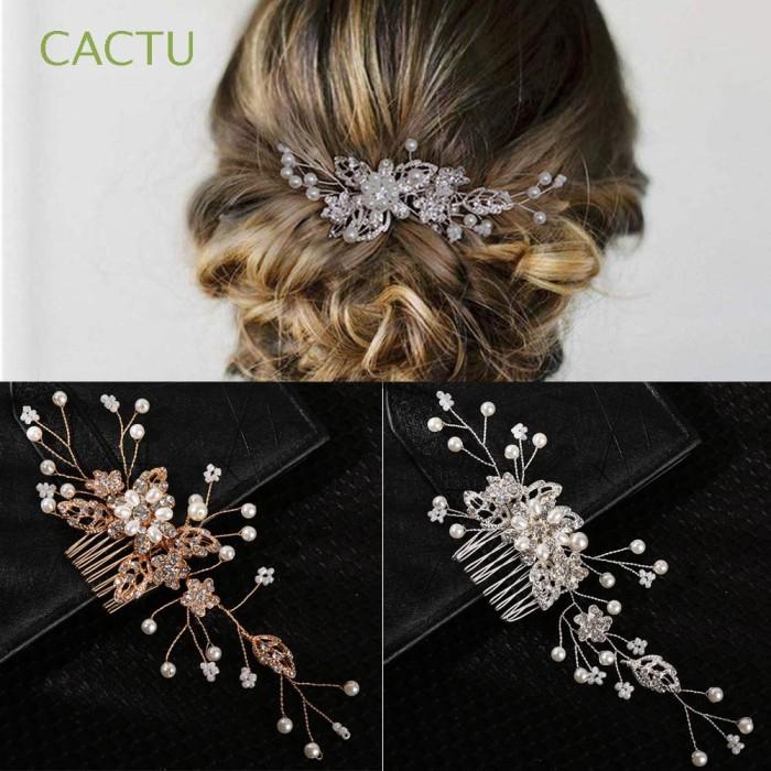 Jual Cactu Gold Silver Handmade Wedding Hair Jewelry Accessories Pearl Jakarta Barat Dedisamudra Tokopedia