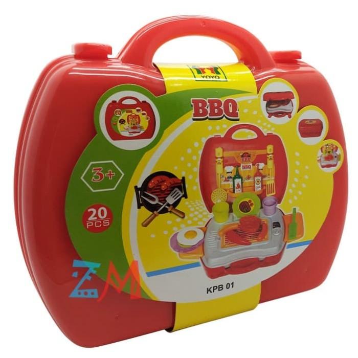 Foto Produk MAINAN ANAK MASAK KOPER BBQ KPB 01 mainan masak-masakan buat an dari motherkids