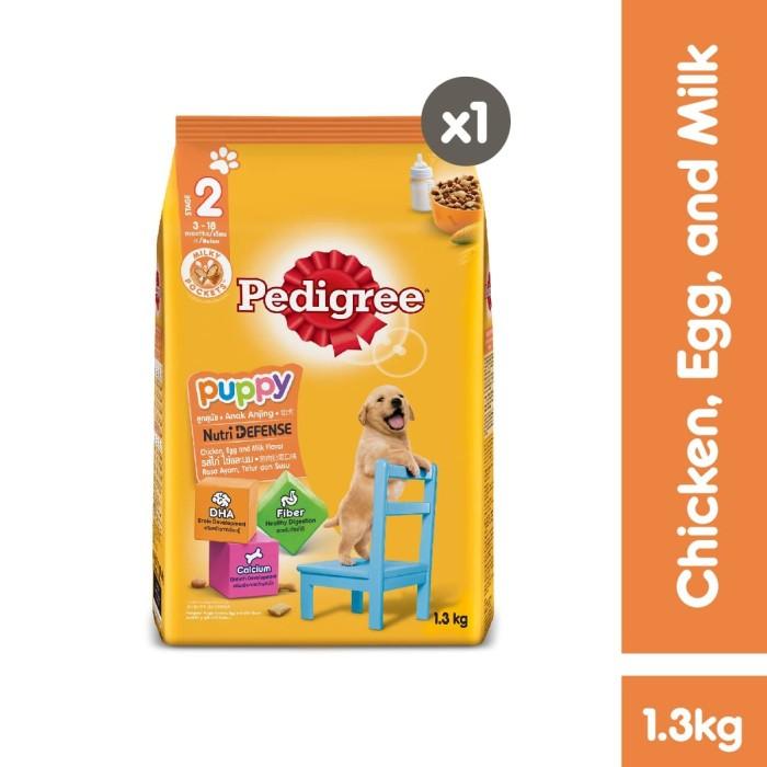 Foto Produk Pedigree Dry Puppy 1.3kg Makanan Anjing Kering rasa Chicken and Egg dari Pedigree Official Store