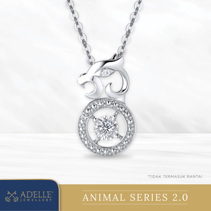 Foto Produk Animal Diamond Pendant 2 - TIGER - Liontin Berlian Adelle Jewellery - White Gold dari Adelle Jewellery