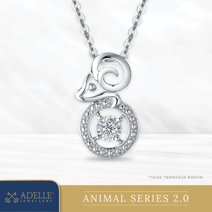 Foto Produk Animal Diamond Pendant 2 - GOAT - Liontin Berlian Adelle Jewellery - White Gold dari Adelle Jewellery