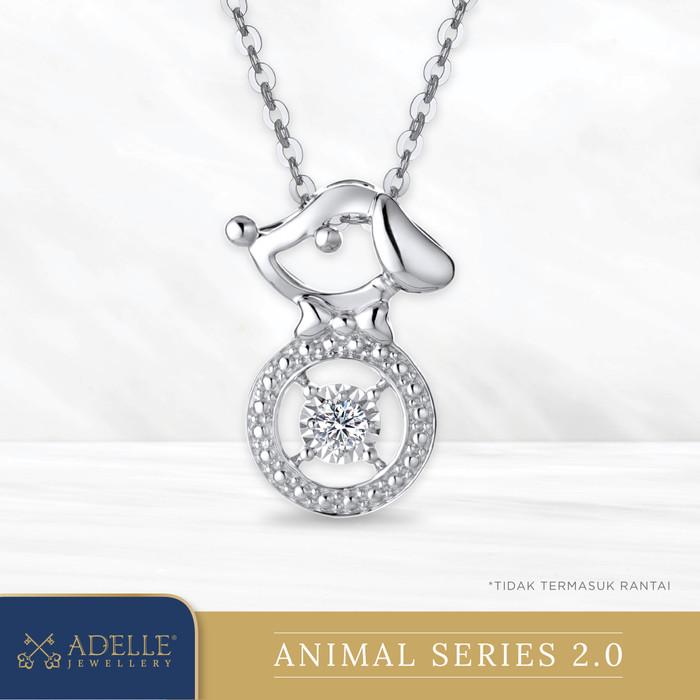Foto Produk Animal Diamond Pendant 2 - DOG - Liontin Berlian Adelle Jewellery - White Gold dari Adelle Jewellery