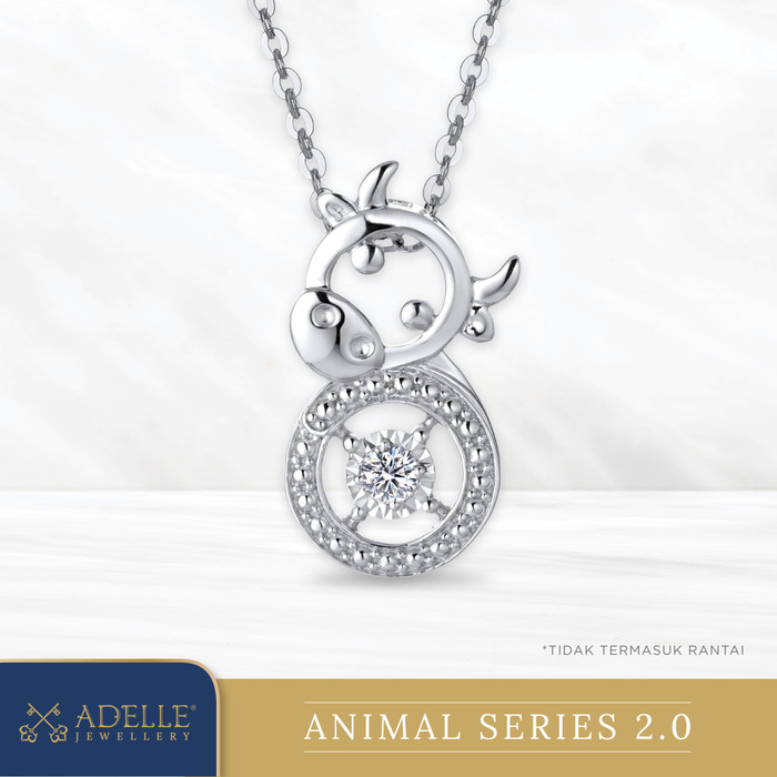 Foto Produk Animal Diamond Pendant 2 - OX - Liontin Berlian Adelle Jewellery - White Gold dari Adelle Jewellery