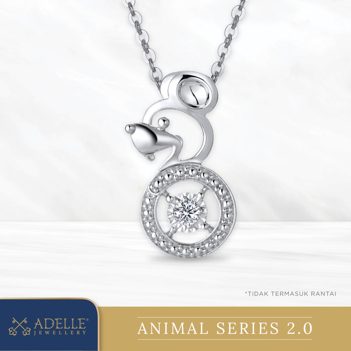 Foto Produk Animal Diamond Pendant 2 - RAT - Liontin Berlian Adelle Jewellery - White Gold dari Adelle Jewellery