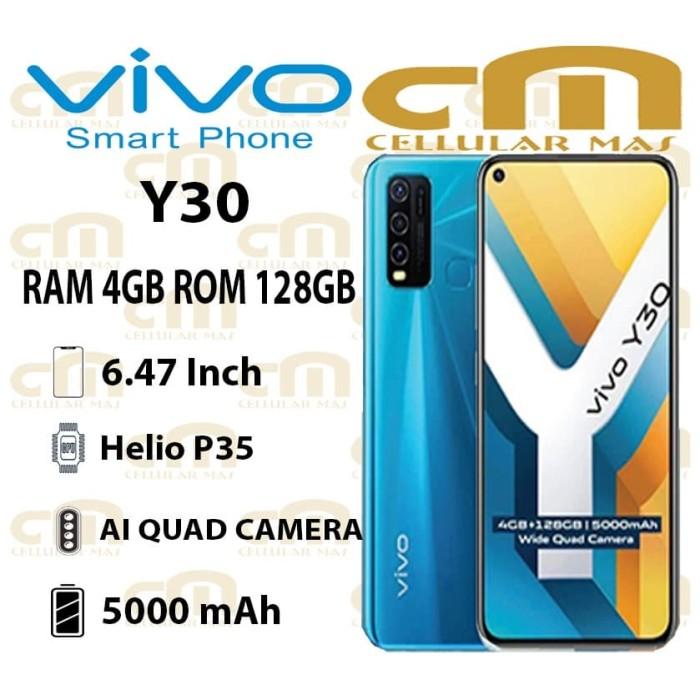 Foto Produk Vivo Y30 4/128 RAM 4GB ROM 128GB GARANSI RESMI VIVO - Hitam dari Cellular Mas