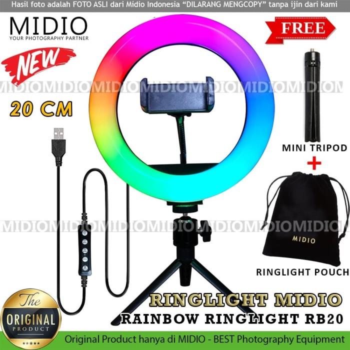 Foto Produk RingLight Rainbow Midio RB20 Ring Light RGB TikTok Youtuber dari Midio