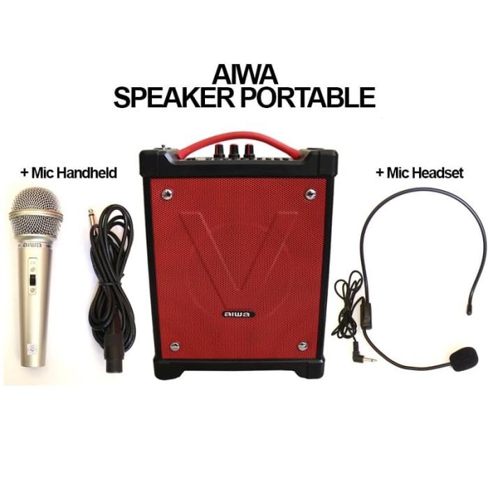 Foto Produk SPEAKER PORTABLE AMPLIFIER WITH MIC HEADSET FM RADIO - AIWA dari EtalaseBelanja