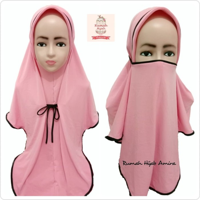 Foto Produk Jilbab Instan Masker Hijab Anak Niqob Tanggung 3in1 dari Hijab_Amira