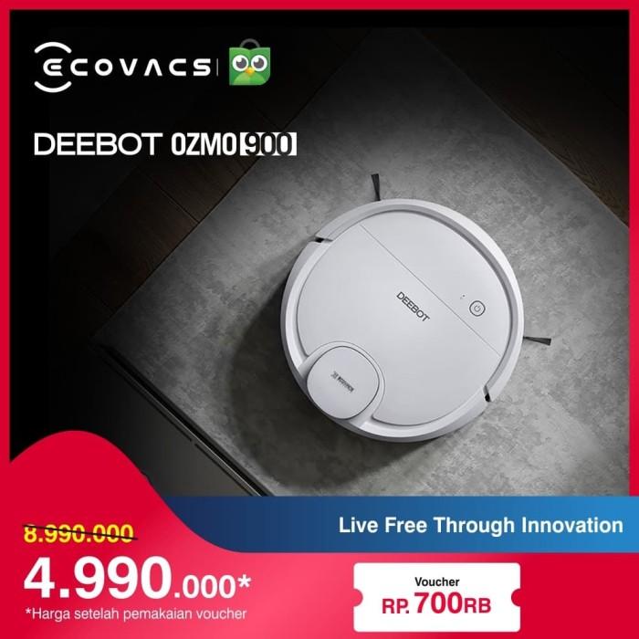 Foto Produk Ecovacs Deebot OZMO 900 Robot Vacum Cleaner & Pel, Vacuum Vakum Debu dari Ecovacs Indonesia
