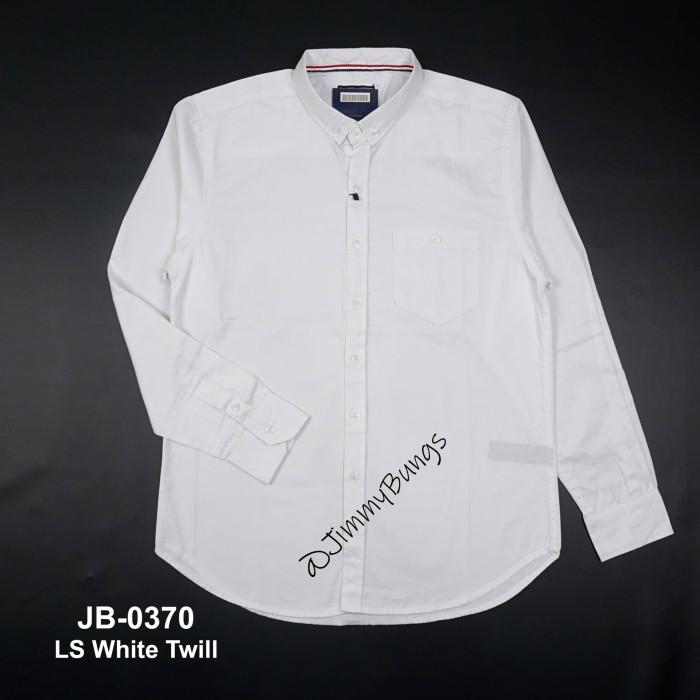 Foto Produk kemeja pria putih polos lengan panjang + slim fit + baju kerja cowok - Hitam, XL dari JimmyBungs
