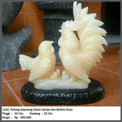 Jual Patung Sepasang Ayam Jantan Dan Betina Batu Onyx Kode 1102 Kota Surabaya Kavindra Kusuma Dzakwan Tokopedia