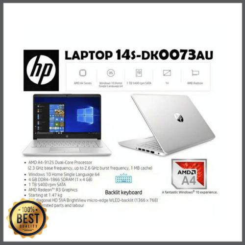 Jual Laptop Hp 14s Dk0073au Amd A4 9125 4gb 1tb Radeon R3 14 W10 Limited Jakarta Selatan Senu Aji Tokopedia